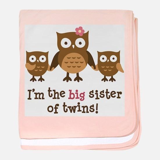 Big Sister of Twins - Mod Owl baby blanket