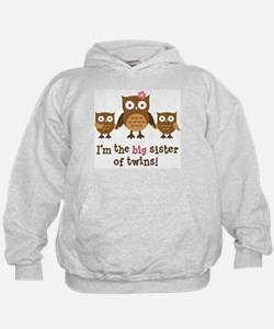 Big Sister of Twins - Mod Owl Hoodie