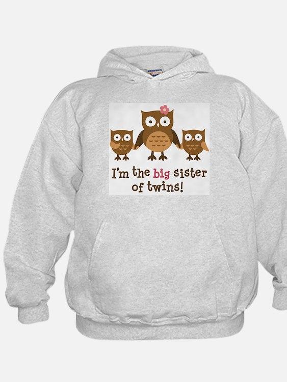 Big Sister of Twins - Mod Owl Hoody