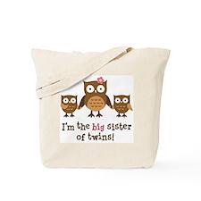 Big Sister of Twins - Mod Owl Tote Bag
