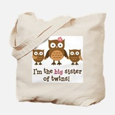 Big Sister of Twins - Mod Owl Tote Bag