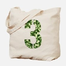 Number 3, Camo Tote Bag