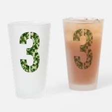 Number 3, Camo Drinking Glass