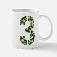 Number 3, Camo Small Small Mug