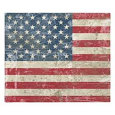 Vintage USA Flag King Duvet