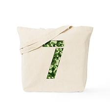 Number 7, Camo Tote Bag