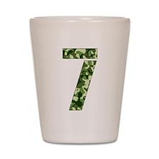 Number 7, Camo Shot Glass
