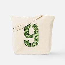 Number 9, Camo Tote Bag