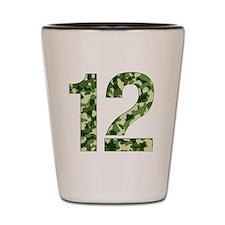 Number 12, Camo Shot Glass