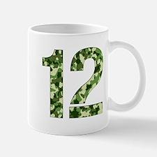 Number 12, Camo Mug
