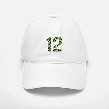 Number 12, Camo Baseball Baseball Cap