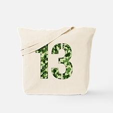 Number 13, Camo Tote Bag