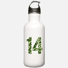 Number 14, Camo Water Bottle