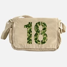 Number 18, Camo Messenger Bag