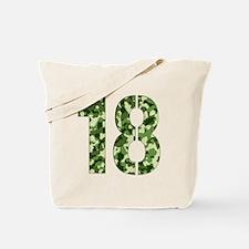 Number 18, Camo Tote Bag