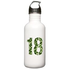 Number 18, Camo Water Bottle