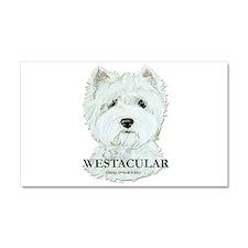 Westacular Westie! Car Magnet 20 x 12