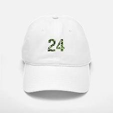 Number 24, Camo Baseball Baseball Cap
