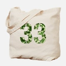 Number 33, Camo Tote Bag
