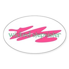 Wicked Stepsister Oval Decal