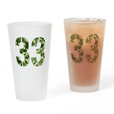 Number 33, Camo Drinking Glass