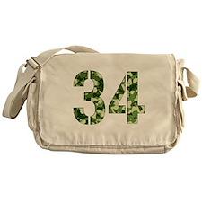 Number 34, Camo Messenger Bag