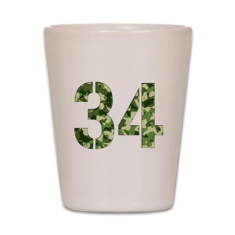 Number 34, Camo Shot Glass