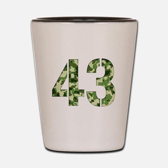 Number 43, Camo Shot Glass