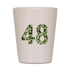 Number 48, Camo Shot Glass