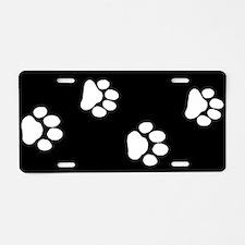 Pet Paw Prints Aluminum License Plate
