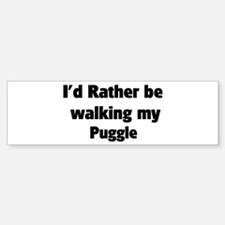 Rather: Puggle Bumper Bumper Bumper Sticker