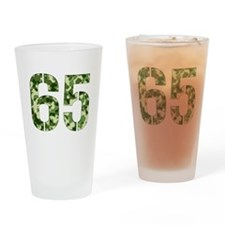 Number 65, Camo Drinking Glass