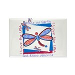 USA Dragonflies Rectangle Magnet