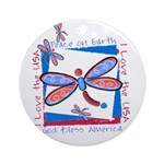 USA Dragonflies Ornament (Round)