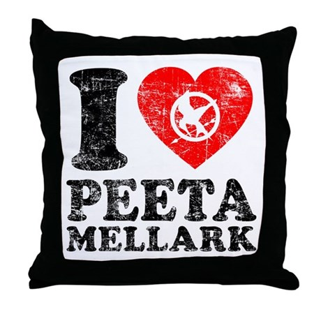 Luv Peeta Throw Pillow