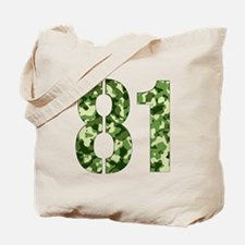 Number 81, Camo Tote Bag