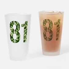 Number 81, Camo Drinking Glass