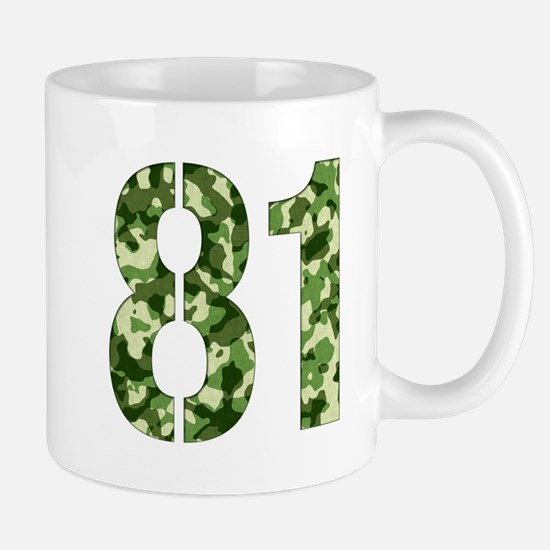 Number 81, Camo Mug