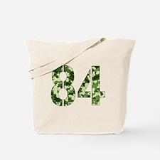 Number 84, Camo Tote Bag