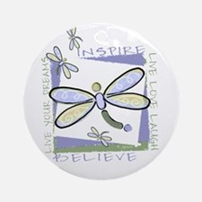 Inspire Dragonflies Ornament (Round)