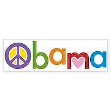 Peace, Love, Obama Bumper Sticker