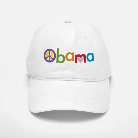 Peace, Love, Obama Baseball Baseball Cap