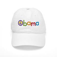 Peace, Love, Obama Baseball Cap
