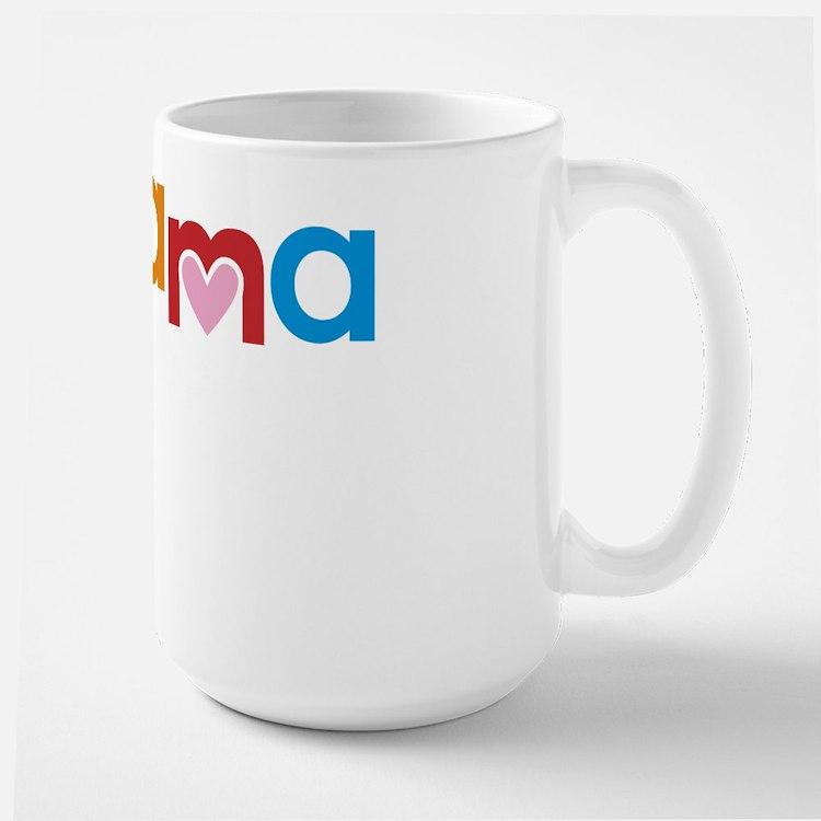 Peace, Love, Obama Large Mug