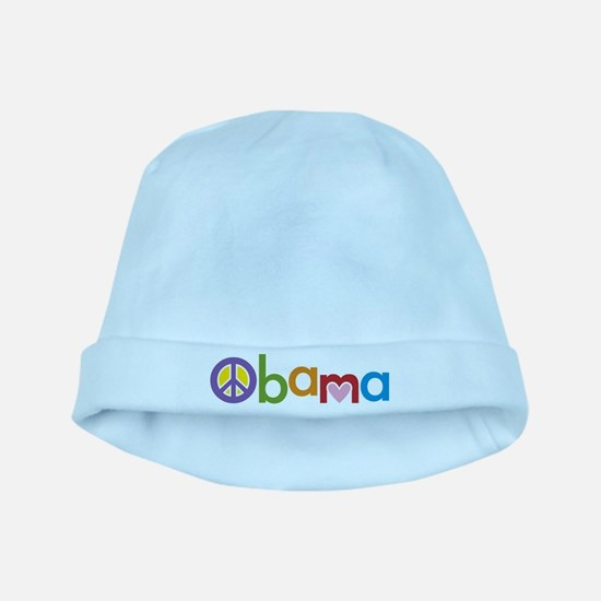 Peace, Love, Obama baby hat