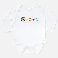 Peace, Love, Obama Long Sleeve Infant Bodysuit