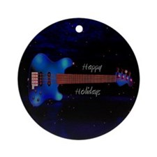 Bass Guitar Ornament (Round)