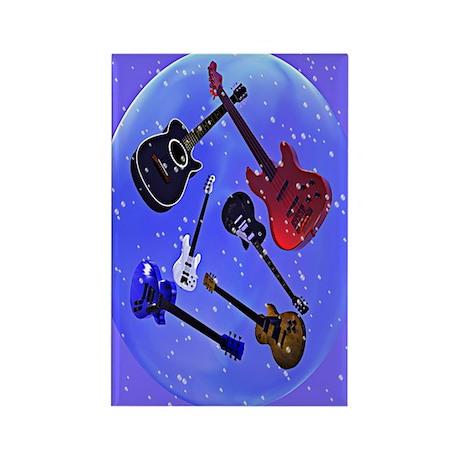 Floating Guitars Rectangle Magnet (10 pack)