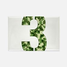 Number 3, Camo Rectangle Magnet