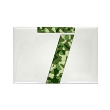 Number 7, Camo Rectangle Magnet